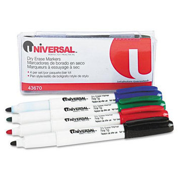 Universal Products Universal Office Products Dry-Erase Markers Universal Pen Style Dry