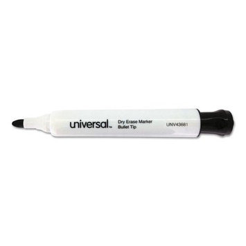 Universal Products Universal Office Products 43681 Dry Erase Marker Bullet Tip Black Dozen