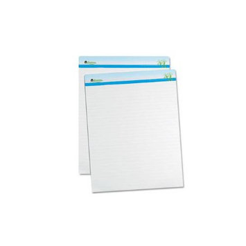 Universal Sugarcane Based Easel Pads, 1 Inch Rule, 27 x 34, White, 2 50-Sheet Pads/Pack