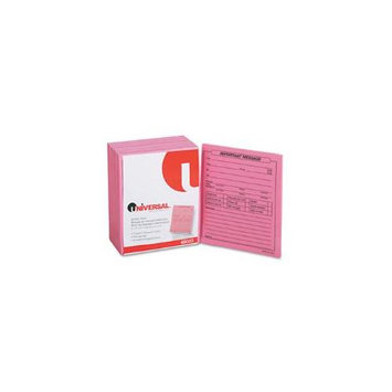 Universal Important Message Pink Pads, 4-1/4 x 5-1/2, 50/Pad, 1/Dozen