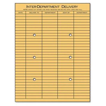 Universal Battery Universal 63568 Light Brown Kraft String & Button Interoffice Envelope 10 x 13 100/box