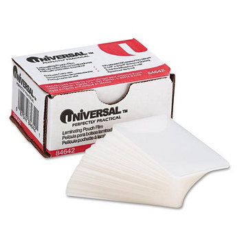 Universal Battery Universal 84642 Clear Laminating Pouches 5mm 2-3/16 x 3-11/16 100/box