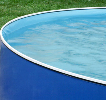 Swim'n Play 18' x 42 Round Vinyl Blue Liner with Port Hole