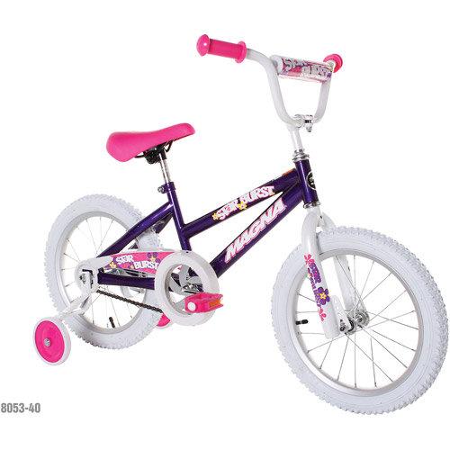 "Chitech Magna Girls 16"" Starburst Bike - Purple"