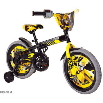 Chitech Transformers Boy's Bumblebee Bike - Yellow/ Grey (16