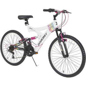 Dynacraft 24 in. Girls Rip Curl Full Suspension Mountain Bike