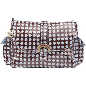 Diaper Bags Kalencom Laminated Buckle Diaper Bag - Heavenly Dots - Chocolate Blue