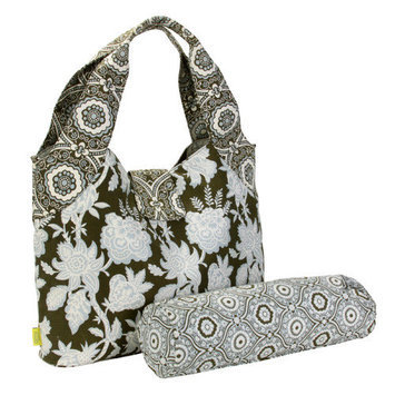 Amy Butler for Kalencom Tulip Diaper Bag Tropicali Tea Leaf