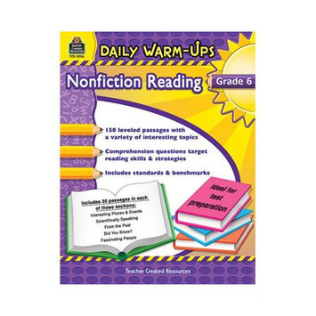 Teacher Created Resources TCR5036 Daily Warm Ups Gr 6 Nonfiction Reading
