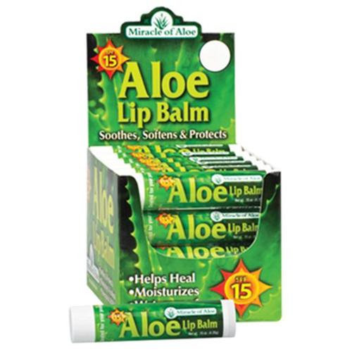 Miracle Of Aloe Aloe Lip Balm w/ SPF-15 Sunblock 1 Lip Balm