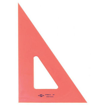 Pacific Arc Professional Fluorescent Triangles 10 in. 30/60 degrees