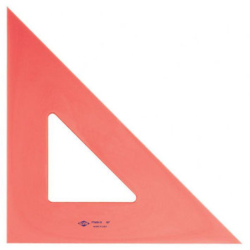 Pacific Arc Professional Fluorescent Triangles 10 in. 45/90 degrees