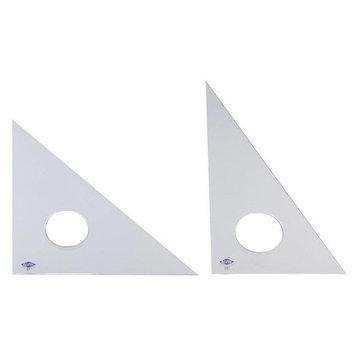 Alvin 130F-12 12 in. Triangle Fluor 30 Degrees-60 Degrees