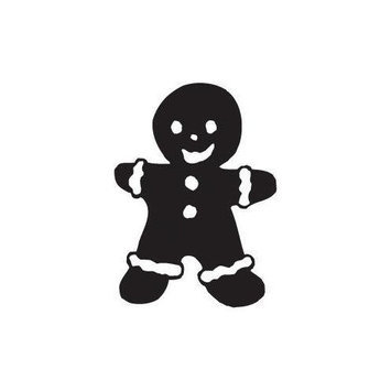 Sarasota Stamps Mounted Rubber Gingerbread Man Stamp