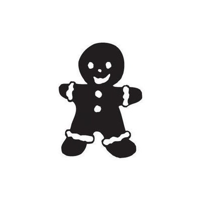 Sarasota Stamps Mounted Rubber Gingerbread Man Stamp