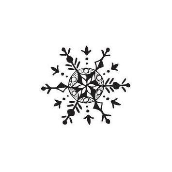 Sarasota Stamps Mounted Rubber Snowflake Stamp