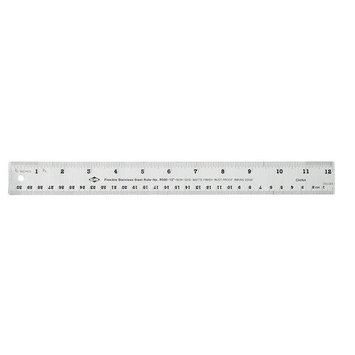 Alvin School Specialty 24 Inch Steel Inking Ruler With Nonskid Back - 24 Inches