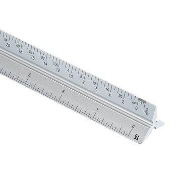 Alvin & Company Alvin 2200M-6 Metric Tri Scale Alum 30cm