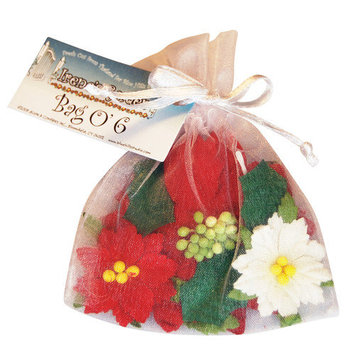 Blue Hills Studio BHS750 Bag O Poinsettias 6Bgs - 6 Pieces-Bag