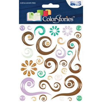 Blue Hills Studio Alvin and Co. Colorstories Epoxy Swirl Stickers (Set of 63)