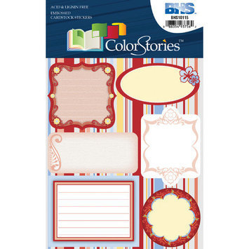 Blue Hills Studio Alvin and Co. Colorstories Embossed Cardstock Stickers