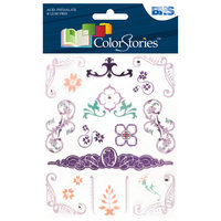 Alvin & Company Alvin and Co. Colorstories Jeweled Rub Ons (Set of 19)