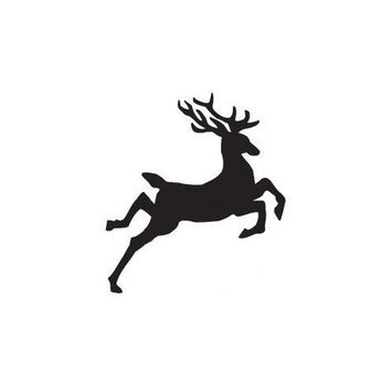 Sarasota Stamps Mounted Rubber Jumping Reindeer Stamp