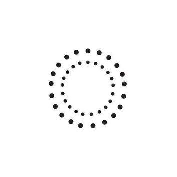 Sarasota Stamps Mounted Rubber Double Dot Circles Stamp