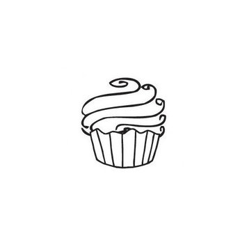 Sarasota Stamps Mounted Rubber Cupcake Mini Stamp