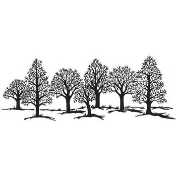 Sarasota Stamps SSH-3488 Tree Group Mounted Rubber Stamp