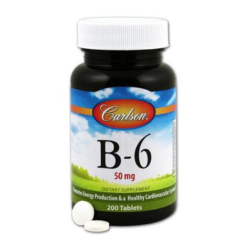 Vitamin B-6 50 mg Carlson Laboratories 200 Tabs