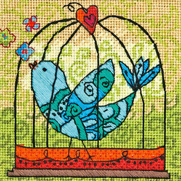 Dimensions Acquisition Llc Dimensions Birdie Needlepoint Kit-5