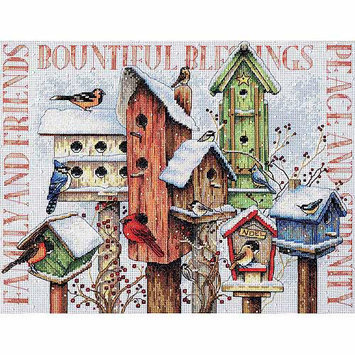 Dimensions Acquisition Llc Dimensions Winter Housing Counted Cross Stitch Kit 18