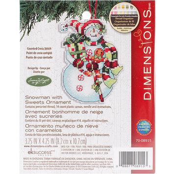 Dimensions Acquisition Llc Susan Winget Snowman Ornament Counted Cross Stitch Plastic Canvas