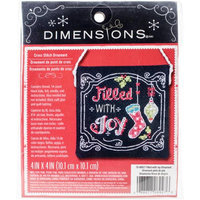 Dimensions Filled With Joy Ornament Counted Cross Stitch Kit-4