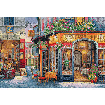 Other Dimensions Gold Collection European Bistro Counted Cross Stitch Kit