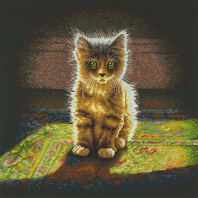 Dimensions Warm and Fuzzy Kitten Counted Cross Stitch Kit