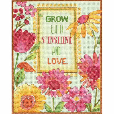 Dimensions Acquisition Llc Dimensions Painted Daisy Verse Counted Cross Stitch Kit 14 Count