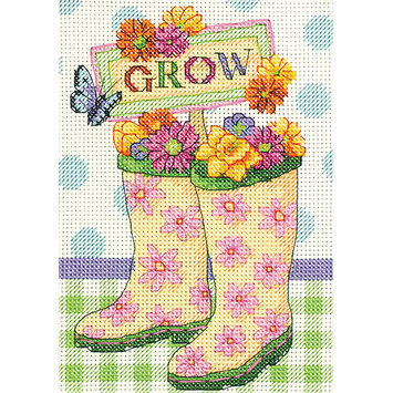 Dimensions Acquisition Llc Dimensions Grow Mini Counted Cross Stitch Kit 5