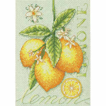 Dimensions Acquisition Llc Dimensions Lemons Mini Counted Cross Stitch Kit 14 Count