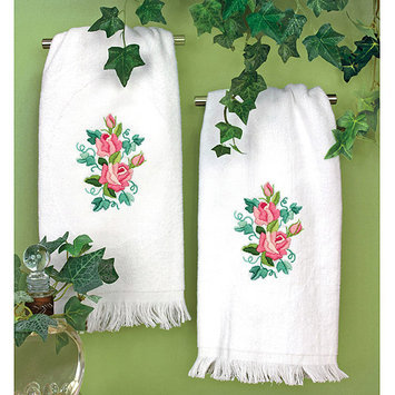Dimensions Acquisition Llc Dimensions Roses And Ivy Guest Towels Stamped Embroidery Kit-16