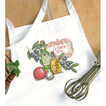 Dimensions Acquisition Llc Dimensions Tuscan Flavor Apron Stamped Cross Stitch