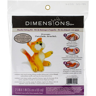 Dimensions NOTM353598 - Feltworks Cat Felting Kit