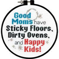 Dimensions Stitch Wits Good Moms Mini Counted Cross Stitch Kit-6