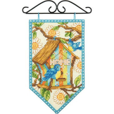 Dimensions Debbie Mumm Spring Banner Counted Cross Stitch Kit-5