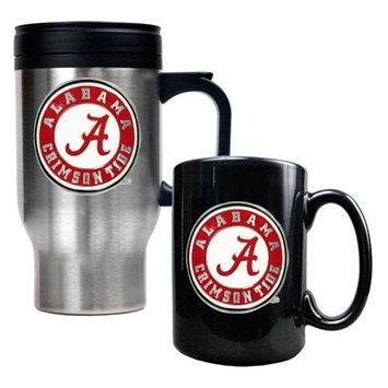 Great American Products Virginia Tech Hokies Stainless Steel Travel Mug & Ceramic Mug Set