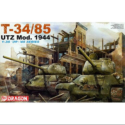 Dragon T-34/85 Utz Mod. 1944 1:35 Scale Military Model Kit DMLS6203