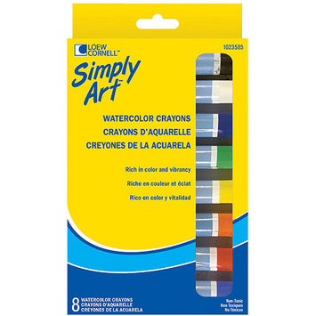 Loew-Cornell 490952 Simply Art Fine Watercolor Crayons-8-Pkg