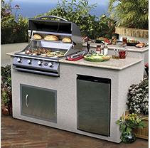 Lloyds Material Supply Co Cal Flame 6 ft. BBQ Island with Granite Top & Gas Grill