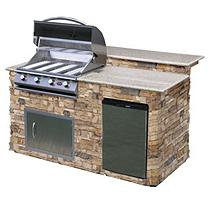 Cal Flame 6 ft. BBQ Island with Granite Top & Gas Grill